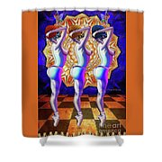 Burlesque Dancers Act One Shower Curtain