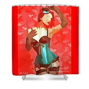 Burlesque Red Shower Curtain