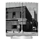 Burlington, Nc - Main Street And Front Shower Curtain