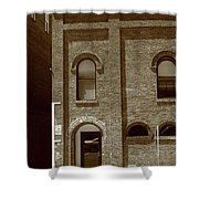 Burlington North Carolina - Arches And Alley Sepia Shower Curtain