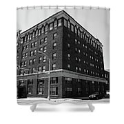 Burlington North Carolina - Main Street Bw Shower Curtain