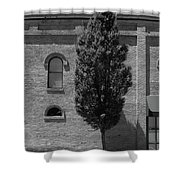 Burlington, North Carolina Sidewalk Bw Shower Curtain