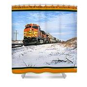 Burlington Northern Santa Fe Bnsf - Railimages@aol.com Shower Curtain