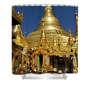 Burma's Golden Pagoda Shower Curtain