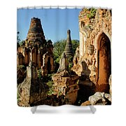 Burmese Pagodas In Ruins Shower Curtain