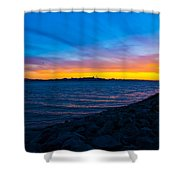 Burn Across The Bay Shower Curtain