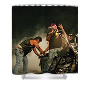 Burn Out Shower Curtain