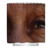 Burned Eyes Shower Curtain