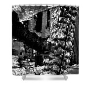 Burned House Detail Shower Curtain