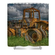 Burned Out Farm Tractor Shower Curtain