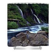 Burney Falls Creek Shower Curtain