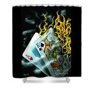Burning Blackjack Shower Curtain