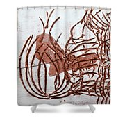 Burning Bush - Tile Shower Curtain
