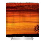 Burning Country Sky Shower Curtain
