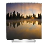 Burning Dawn Shower Curtain
