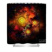 Burning Embers Nebula Shower Curtain