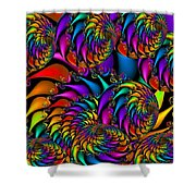 Burning Embers Shower Curtain