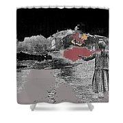 Burning House Destroyed By The Ss Soviet Union Number One 1941 Color Added 2016 Shower Curtain