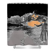 Burning House Destroyed By The Ss Soviet Union Number Two 1941 Color Added 2016 Shower Curtain