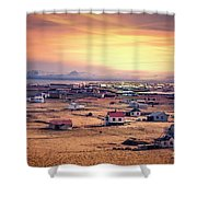 Burning In The Skies Shower Curtain