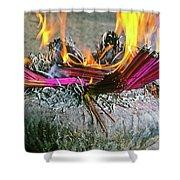 Burning Joss Sticks Shower Curtain