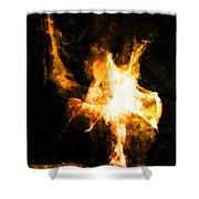 Burning Man Shower Curtain