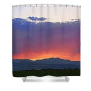 Burning Rays Of Sunset Shower Curtain