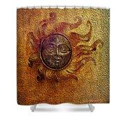 Burning Sun Shower Curtain