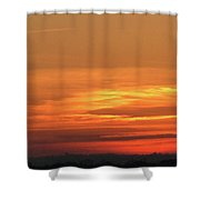 Burning Sunset Shower Curtain