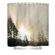 Burning Through The Fog Shower Curtain