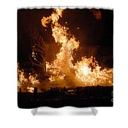 Burning Water Shower Curtain