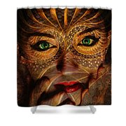 Burnished Gold Shower Curtain