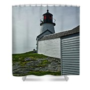 Burnt Island Light Station 3 Shower Curtain