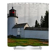 Burnt Island Lighthouse  - The Other Side Shower Curtain