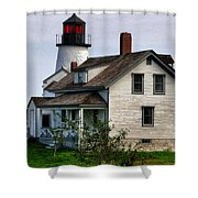 Burnt Island Lighthouse Side View Shower Curtain