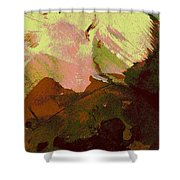 Burnt Sienna Mountains Shower Curtain