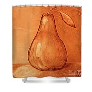 Burnt Sienna Pear Shower Curtain