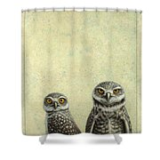 Burrowing Owls Shower Curtain by James W Johnson