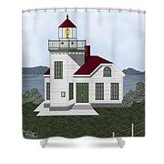 Burrows Island Lighthouse Shower Curtain