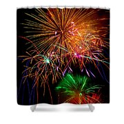 Burst Of Bright Colors Shower Curtain