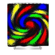 Burst Of Color Shower Curtain