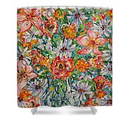 Burst Of Flowers Shower Curtain