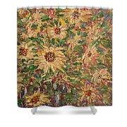 Burst Of Sunflowers. Shower Curtain