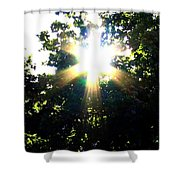 Burst Of Sunlight Shower Curtain