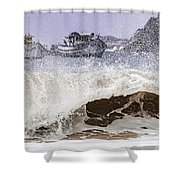 Burst Of Waves Shower Curtain