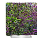 Bursting Forth Color Shower Curtain