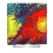 Bursting Recognition Shower Curtain