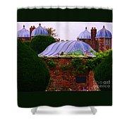 Unique Roofs At Burton Agnes Hall, Yorkshire Shower Curtain