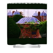 Unique Roofs At Burton Agnes Hall, Yorkshire Shower Curtain