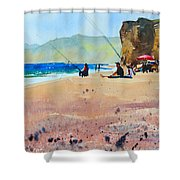 Burton Bradstock Beach Shower Curtain